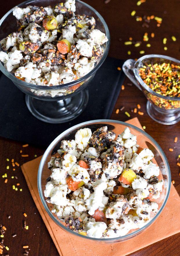 Halloween Candy Corn Popcorn So Easy Soo Delicious