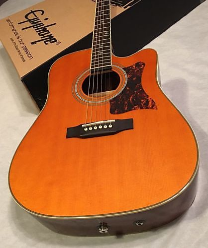Gibson Epiphone Masterbilt Dr 500mce Acoustic Electric Guitar Natural Stereo Out Jam City Music Reverb Acoustic Electric Guitar Acoustic Electric Guitar