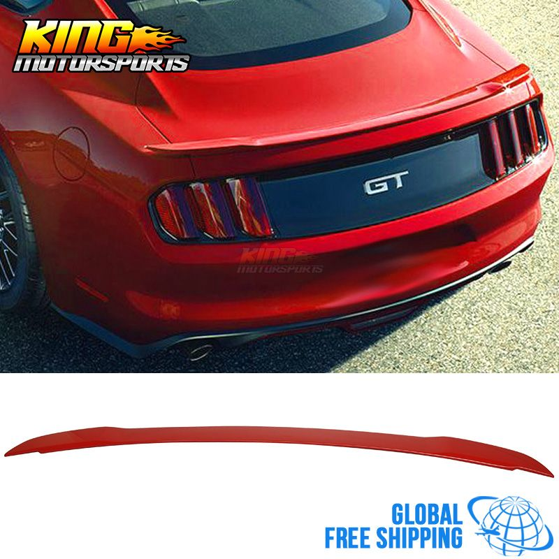For 15-17 Mustang GT Style Trunk Spoiler - ABS Painted # PQ Race Red ...