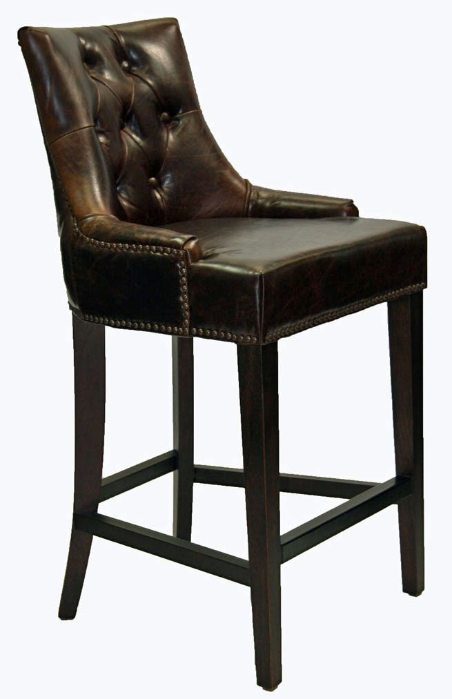Attrayant Restaurant Chairs :: Antique Coco Top Grain Leather Bar/Counter Stool R 1081