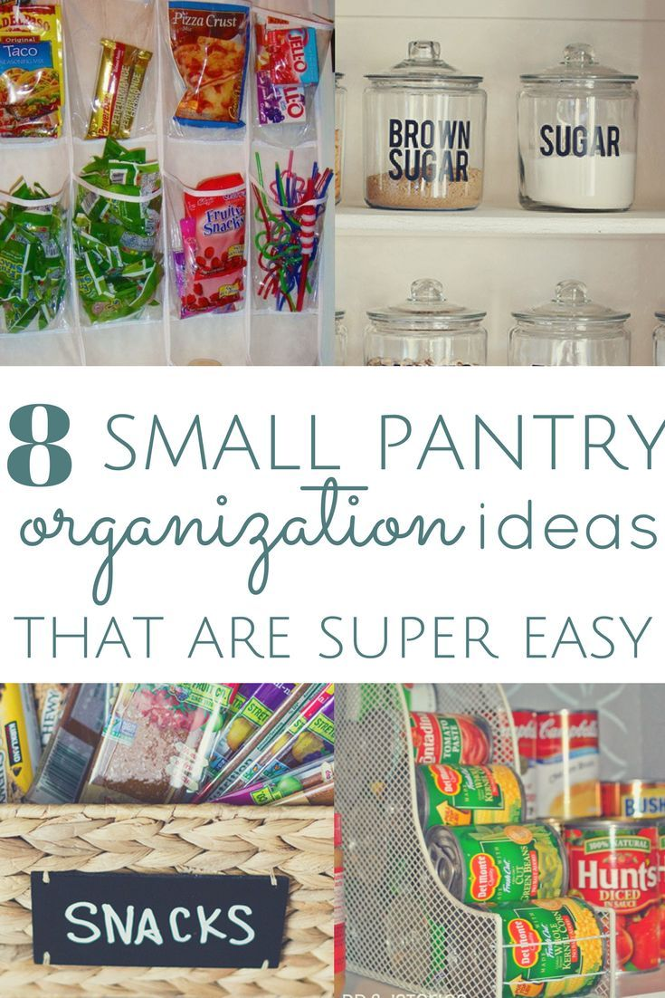 8 Pantry Organization Ideas for Kitchens with No Space | Small ...