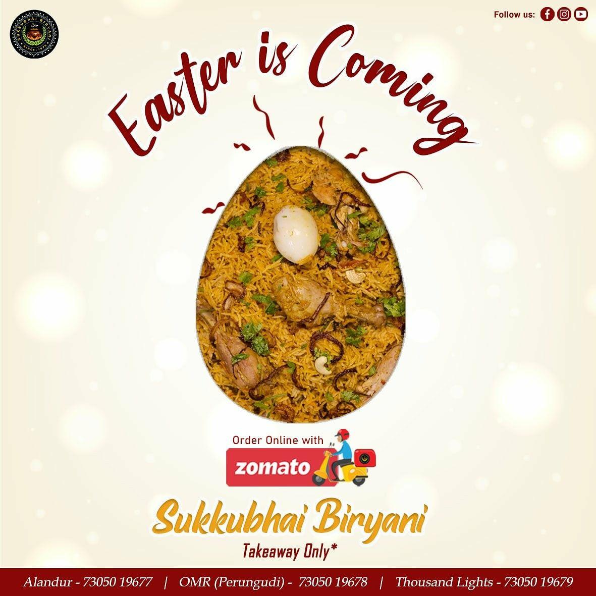 Easter At Home Best Biryani In Chennai In 2020 Biryani Veg Restaurant Signature Dishes