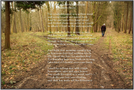 The Road Not Taken Most Famou Poems Robert Frost Essay