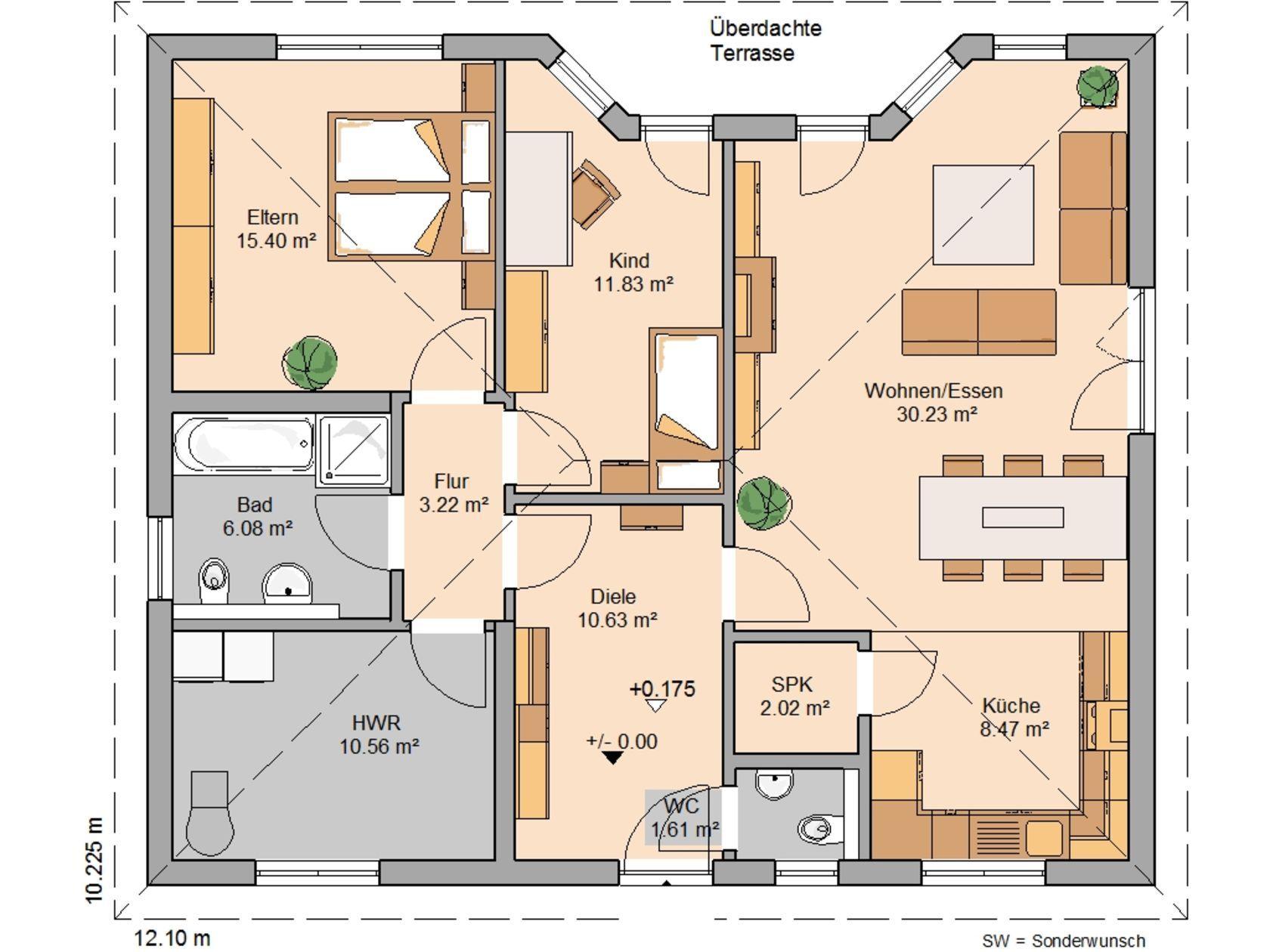 grundriss bungalow 100 m2 bungalow 100 grundriss erdgeschoss grundriss bungalow 100 qm emphit. Black Bedroom Furniture Sets. Home Design Ideas