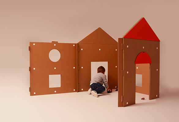 Build your own house kids cardboard design furniture also box rh pinterest