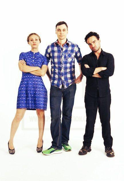 The Big Bang Theory: Kaley Cuoco, Jim Parsons, and Johnny Galecki.