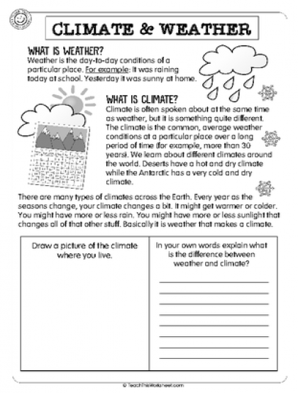 Climate & Weather Yr 3 Weather and climate, Weather