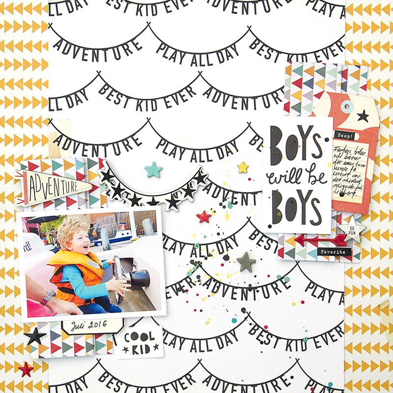 Hi there! I hope that you have had a wonderful weekend!   I am stopping by today to share another Crate Paper Cool Kid layout.        This ...