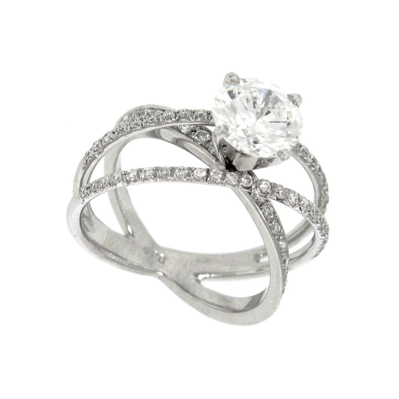 1.00 ct. t.w. CrissCross Round Diamond Engagement Ring in