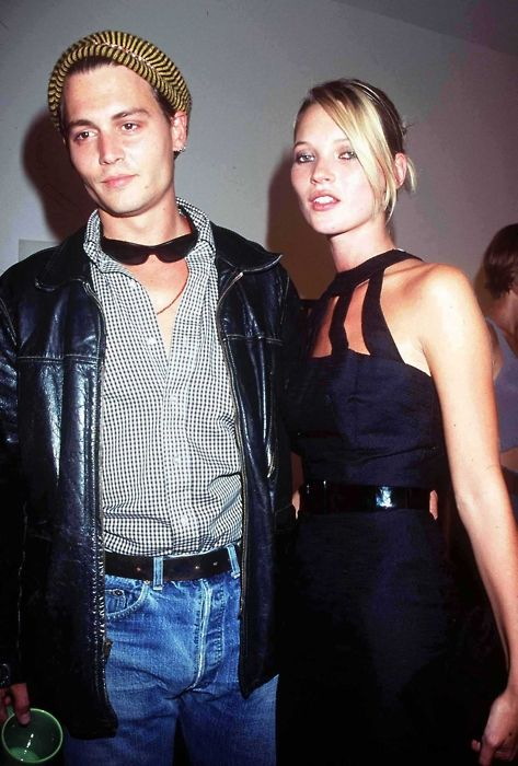 Kate Moss // Johnny Depp // vintage love // old celebrity couples // fashion icon // style idol // iconic women // 1990s // 90s darlings