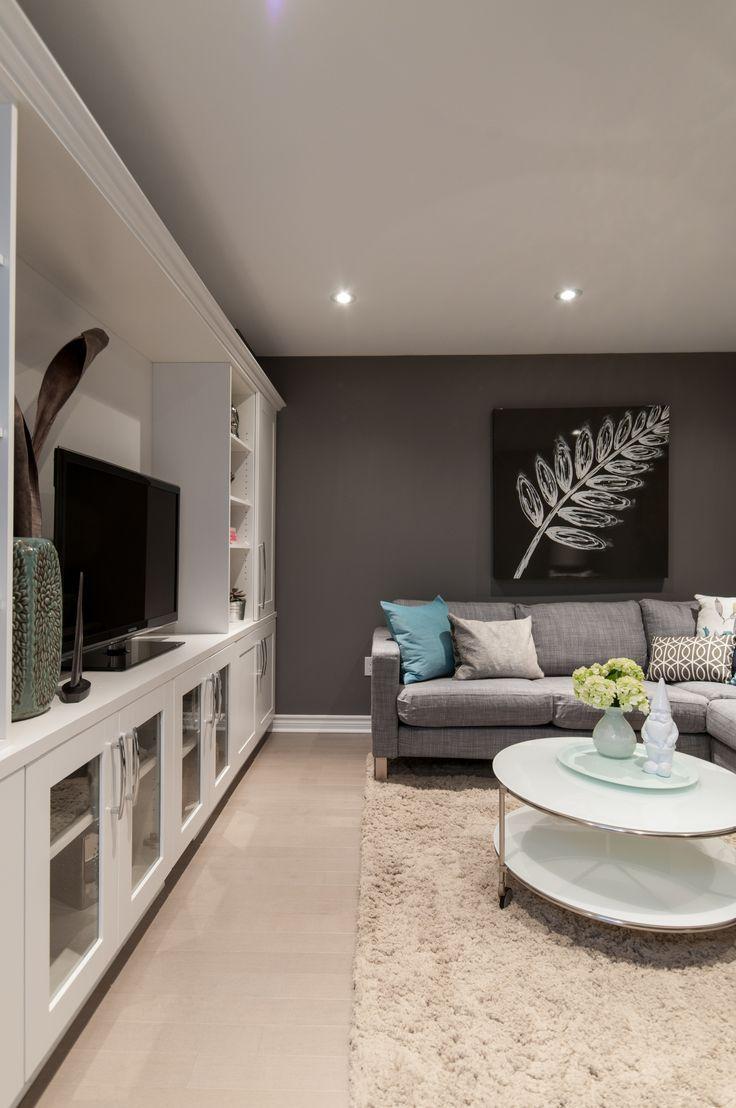 40 Best Recreational Room Ideas For A Homey Hideaway Rec Room Basement Basement Colors Modern Basement