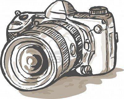 rysunek z aparatem fotograficznym - Szukaj w Google | Rysunek