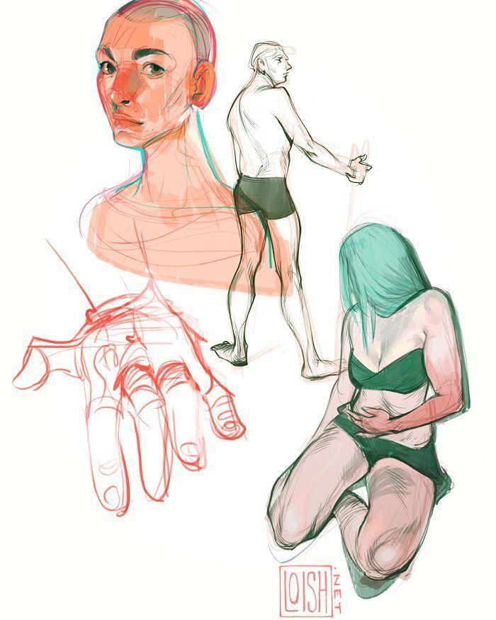Anatomy studies. #art #artist #illustration #sketch #sketchbook ...