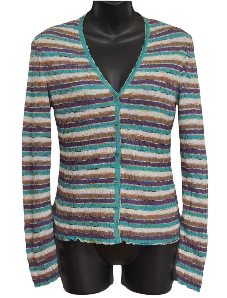M MISSONI Womens Cardigan Knit Multi Color Size 42 US 6 #MMissoni ...