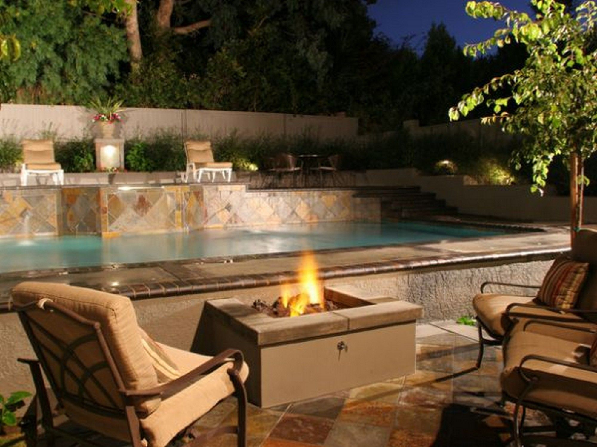 Designed By Mitch Kalamian, This Tri Level Backyard Features A Refurbished