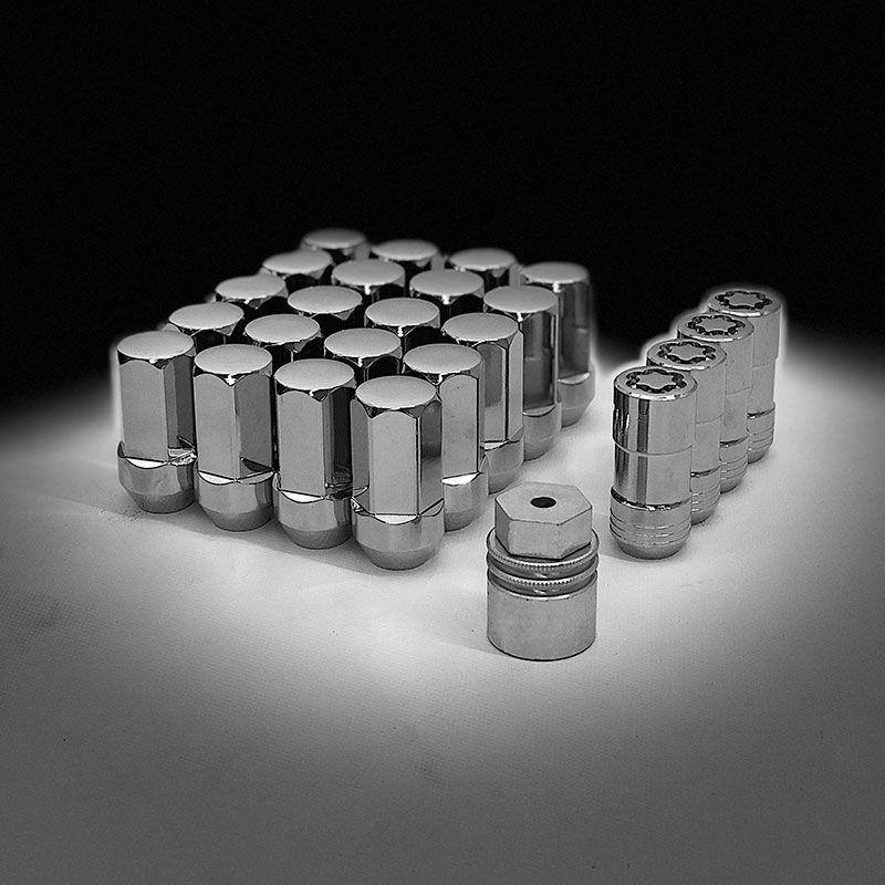 2020 Sierra 1500 Wheel Lock Lug Nut Kit Chrome Set Of 20