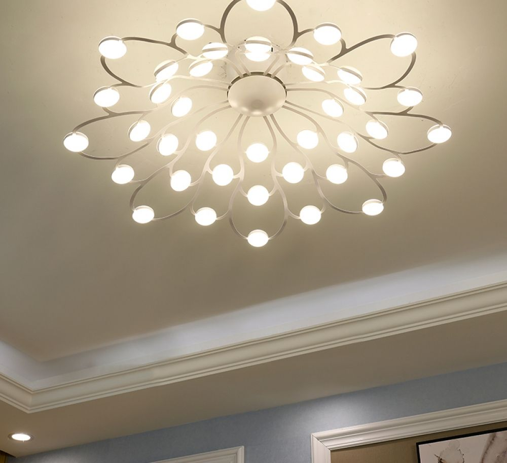 Flower Shaped Led Ceiling Light Myshophome Ceiling Lights Living Room Ceiling Lamps Living Room Led Living Room Lights