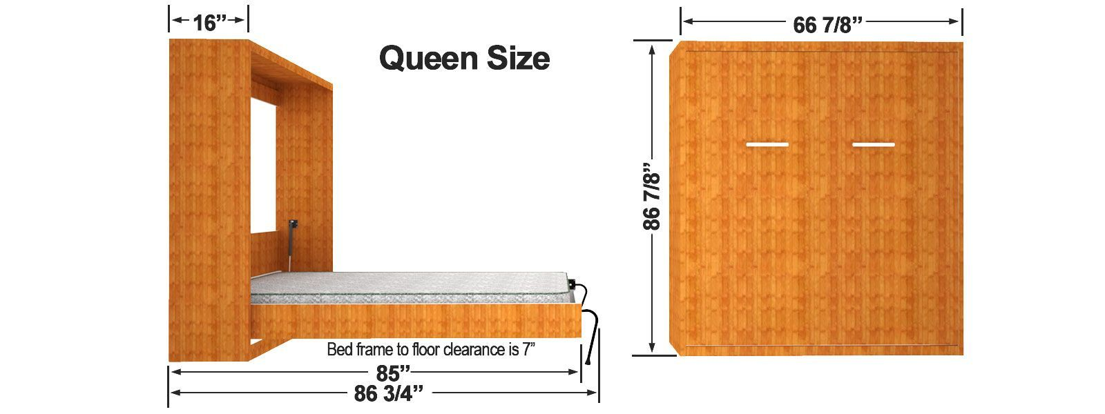 Vertical Wall Mount Murphy Bed Finished Dimensions Bed Dimensions Finished Mount Murphy Vertical Wall In 2020 Murphy Bed Diy Murphy Bed Ikea Murphy Bed Plans