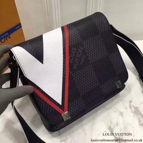 72ce11c1eed0 Louis Vuitton N44003 District PM Messenger Bag Damier Cobalt Canvas Sac  Bandoulière Louis Vuitton, Sacs