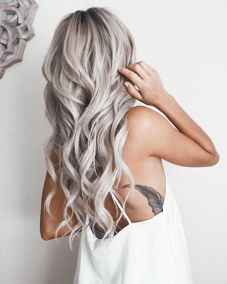 Emily Rose Shannon is slaying the hair game with her long silver ...
