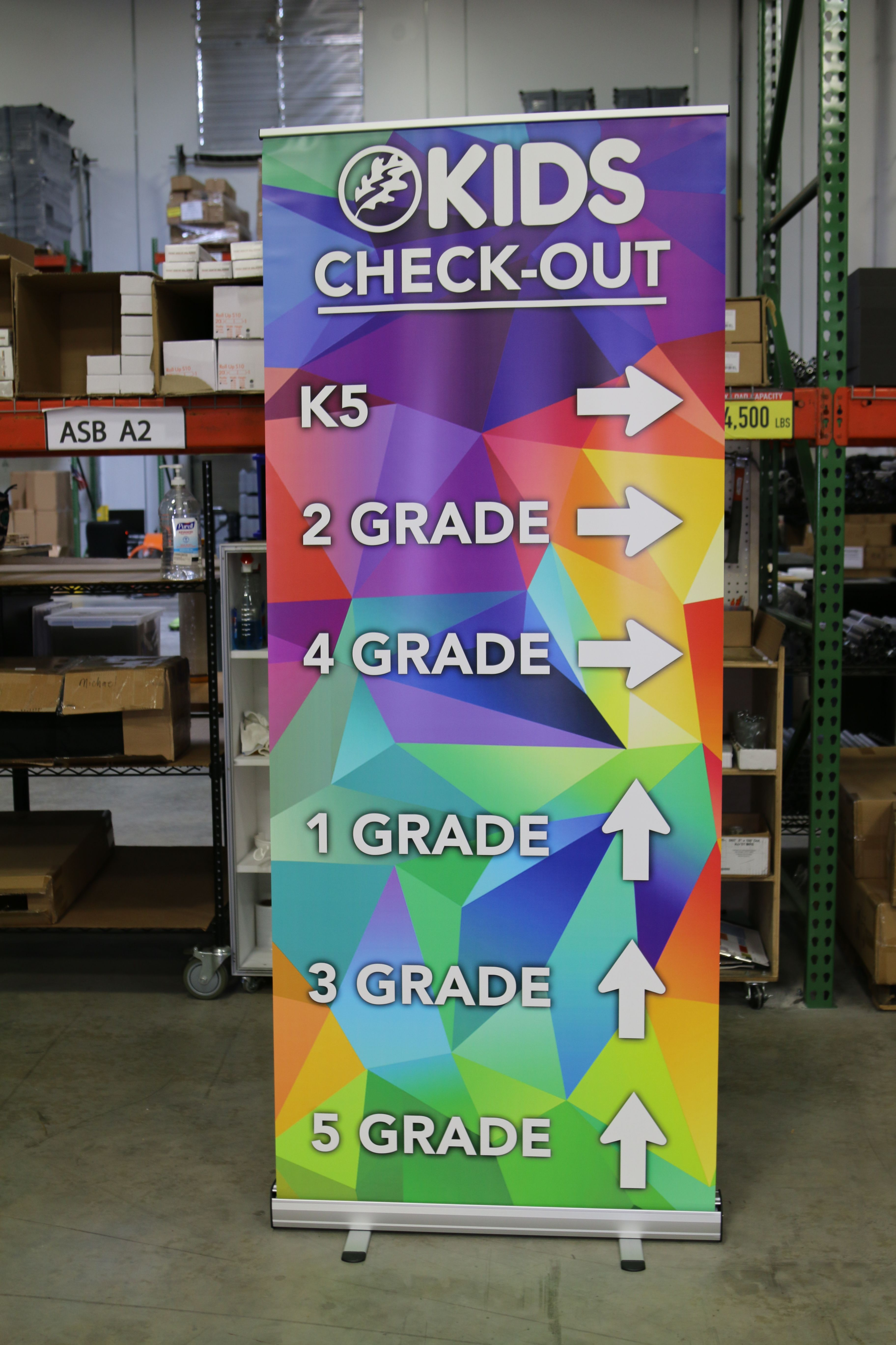 Vinyl Retractable StandUp Banner Childrens ministry