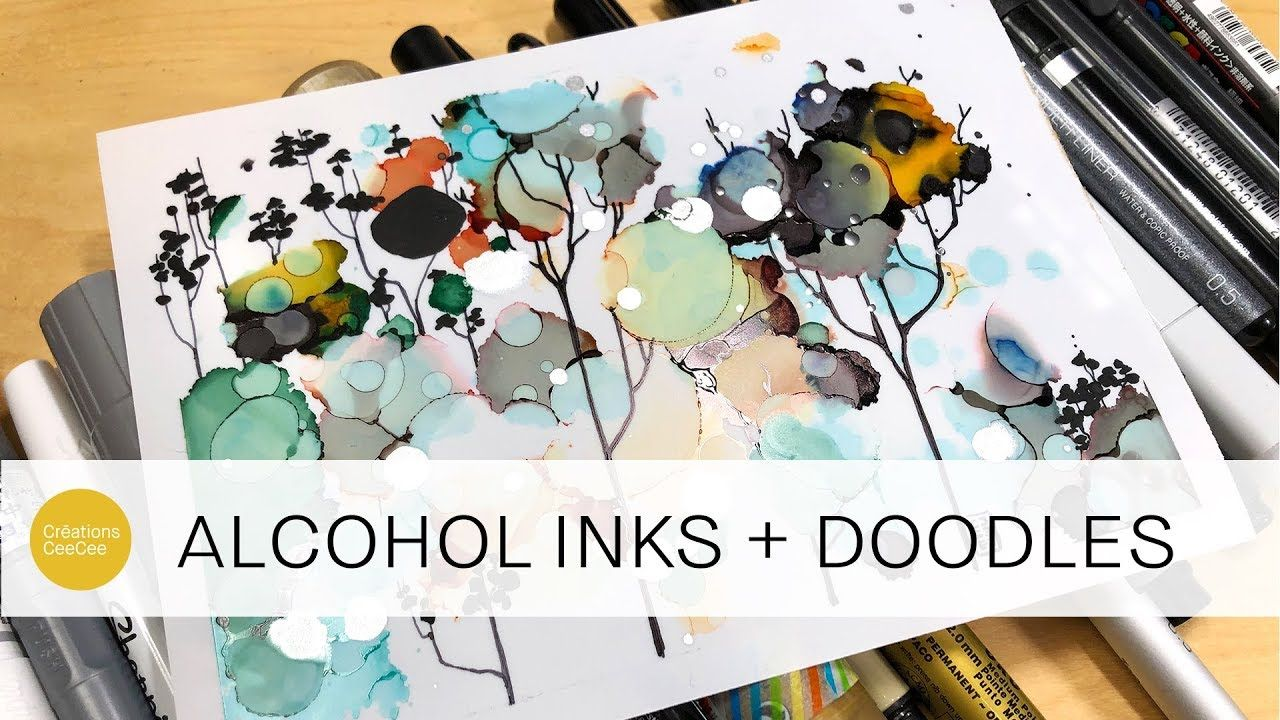 doodling on alcohol inks and testing out all my markers ! - YouTube #alcoholinkcrafts
