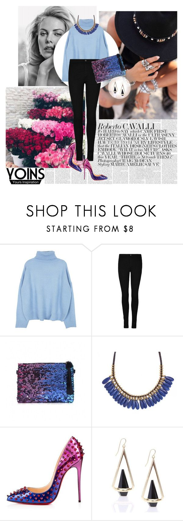 """Yoins 8/1"" by worldoffashionr ❤ liked on Polyvore featuring Roni Kantor, Christian Louboutin, women's clothing, women's fashion, women, female, woman, misses, juniors and yoins"