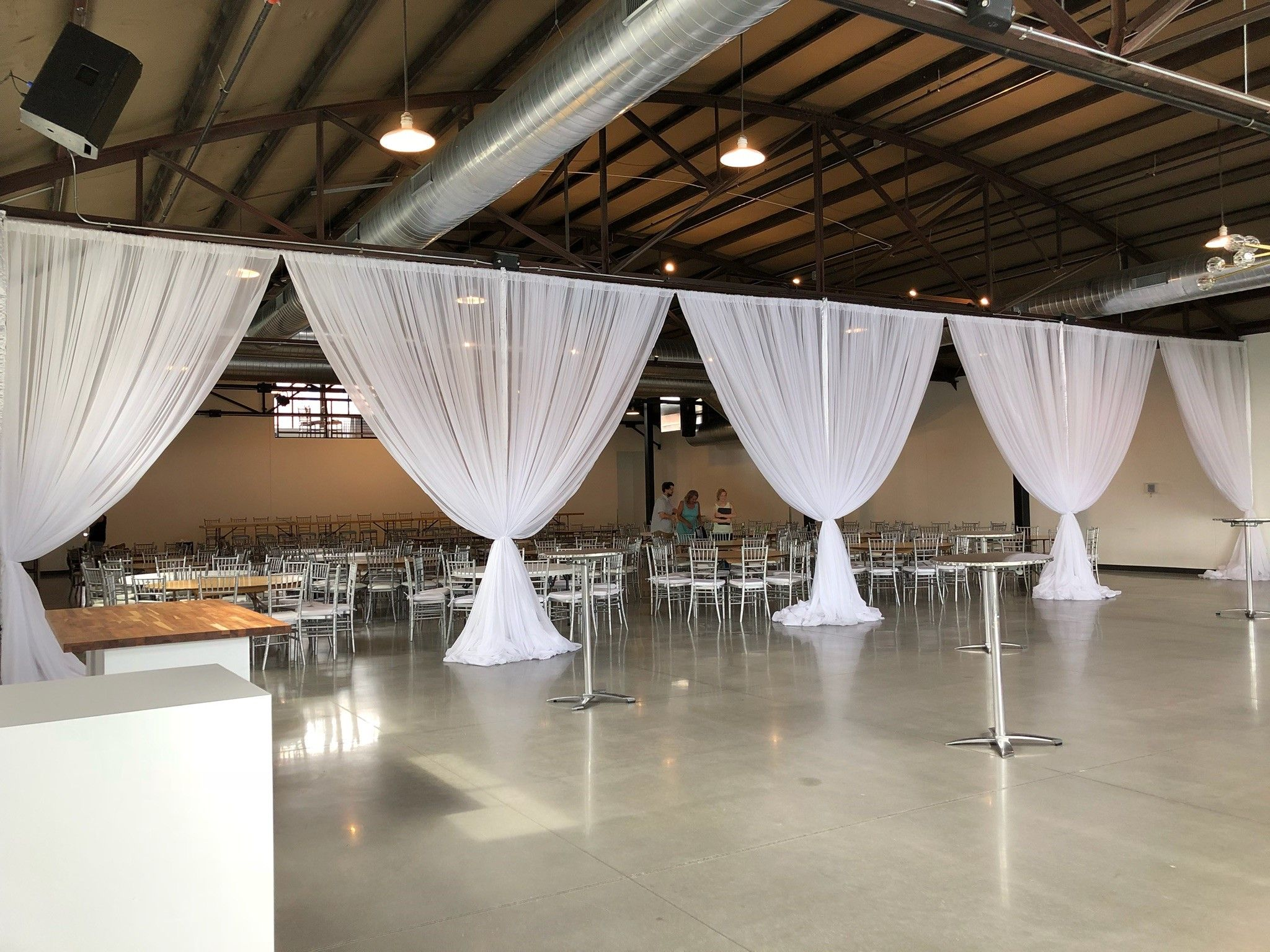 Wall Draping At Curate Event Center Des Moines Iowa Event Rental Wedding Wall Wedding Rentals