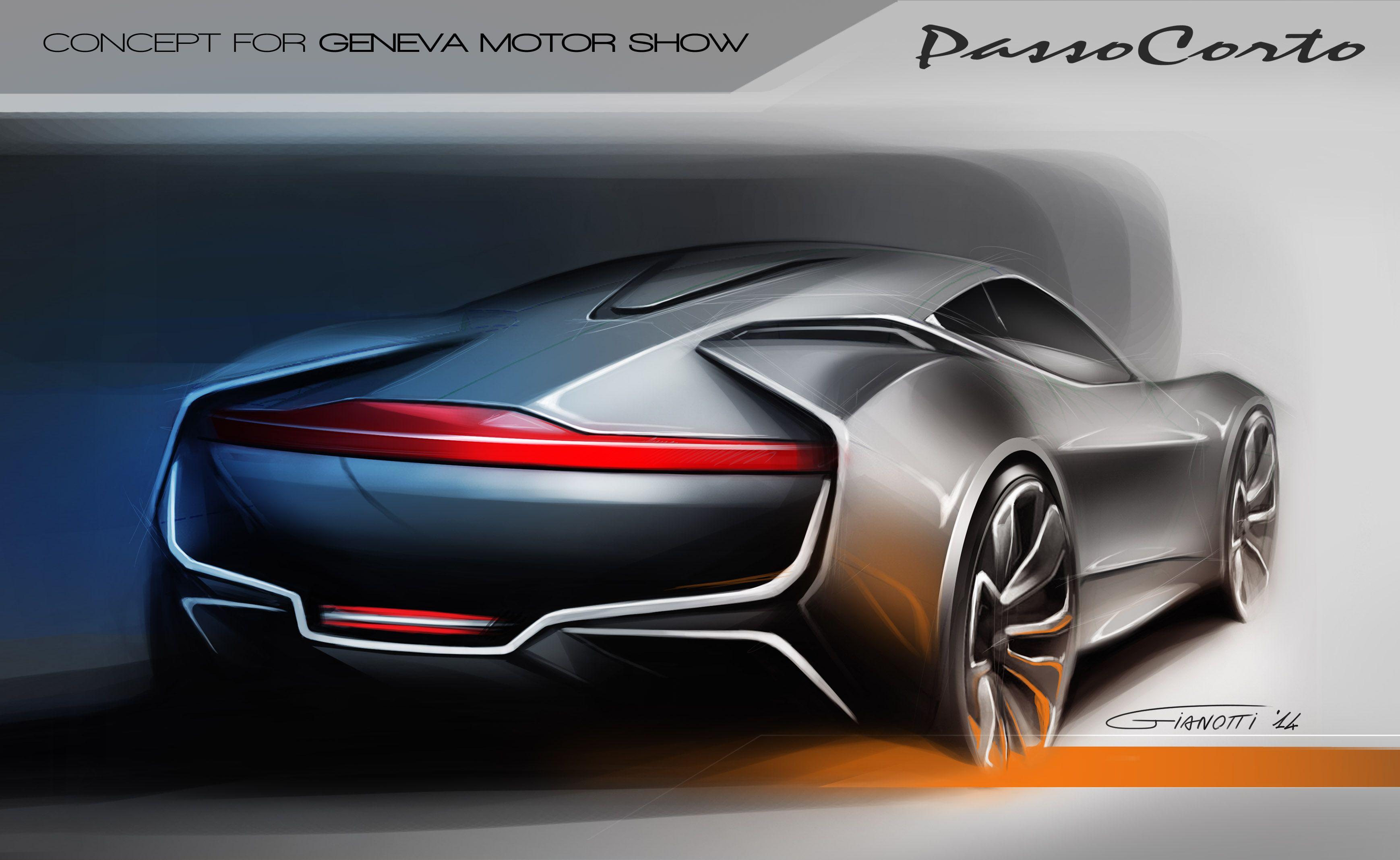 Project Hyundai Passocorto Sketch Rear View Marco Gianotti