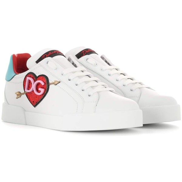 8b190b466f9d3 Dolce   Gabbana Embellished Leather Sneakers (¥75