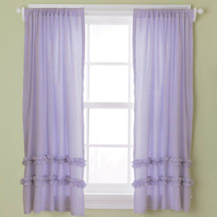 Pin By Sacchan A K A Sachiko On Lavender Ruffle Curtains Kids Curtains Curtains Living Room