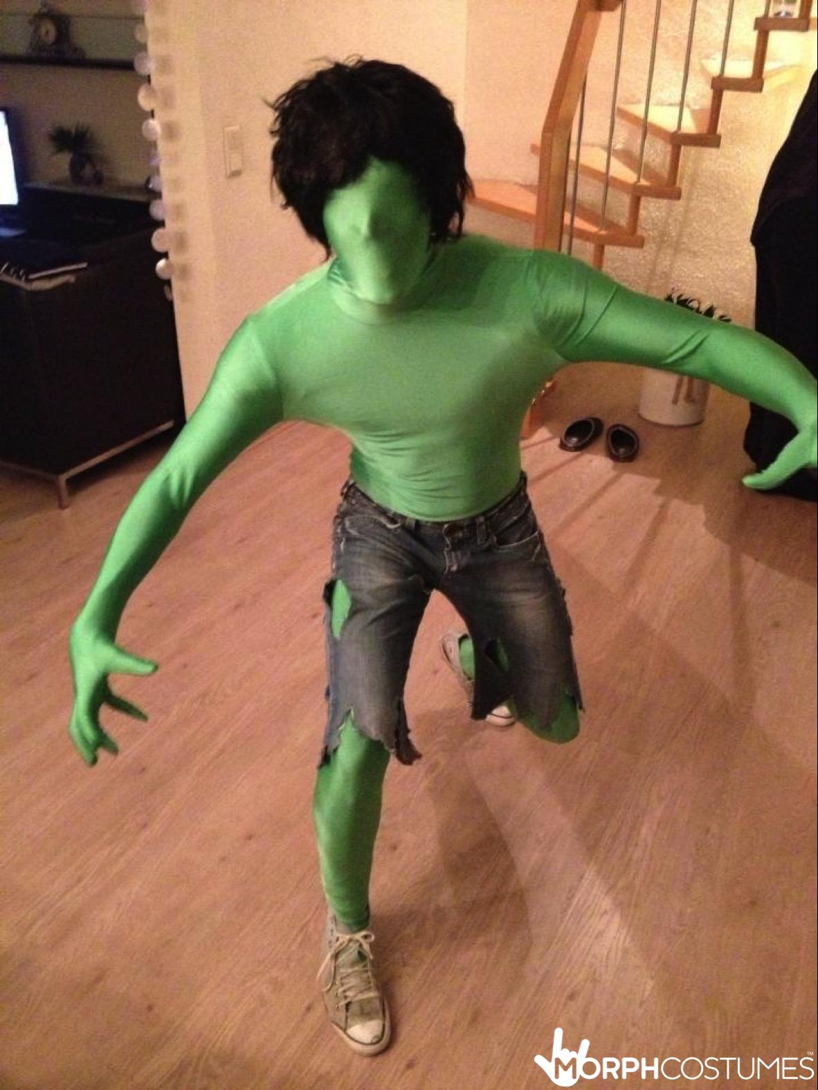 green morphsuit in 2018 | halloween morph costume ideas | pinterest