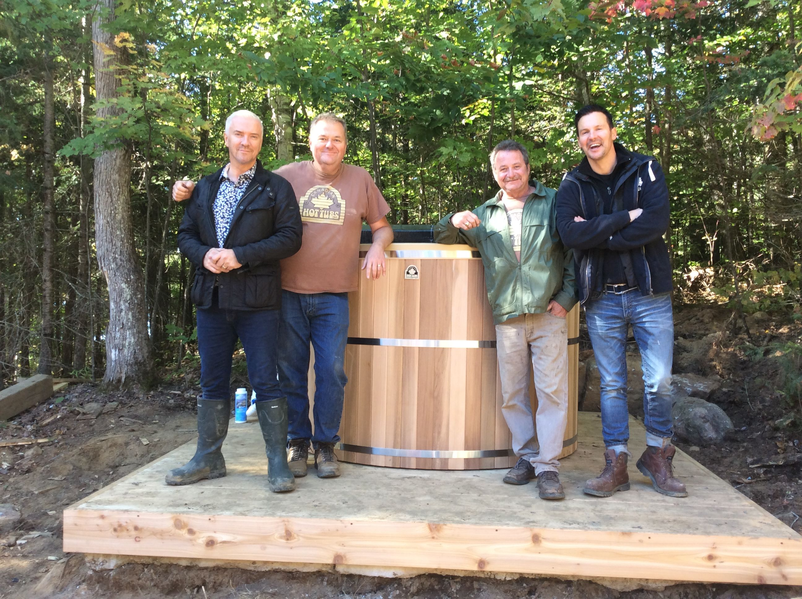 Our work here is complete. The lads have a new cedar hot tub and we are ready to head home.