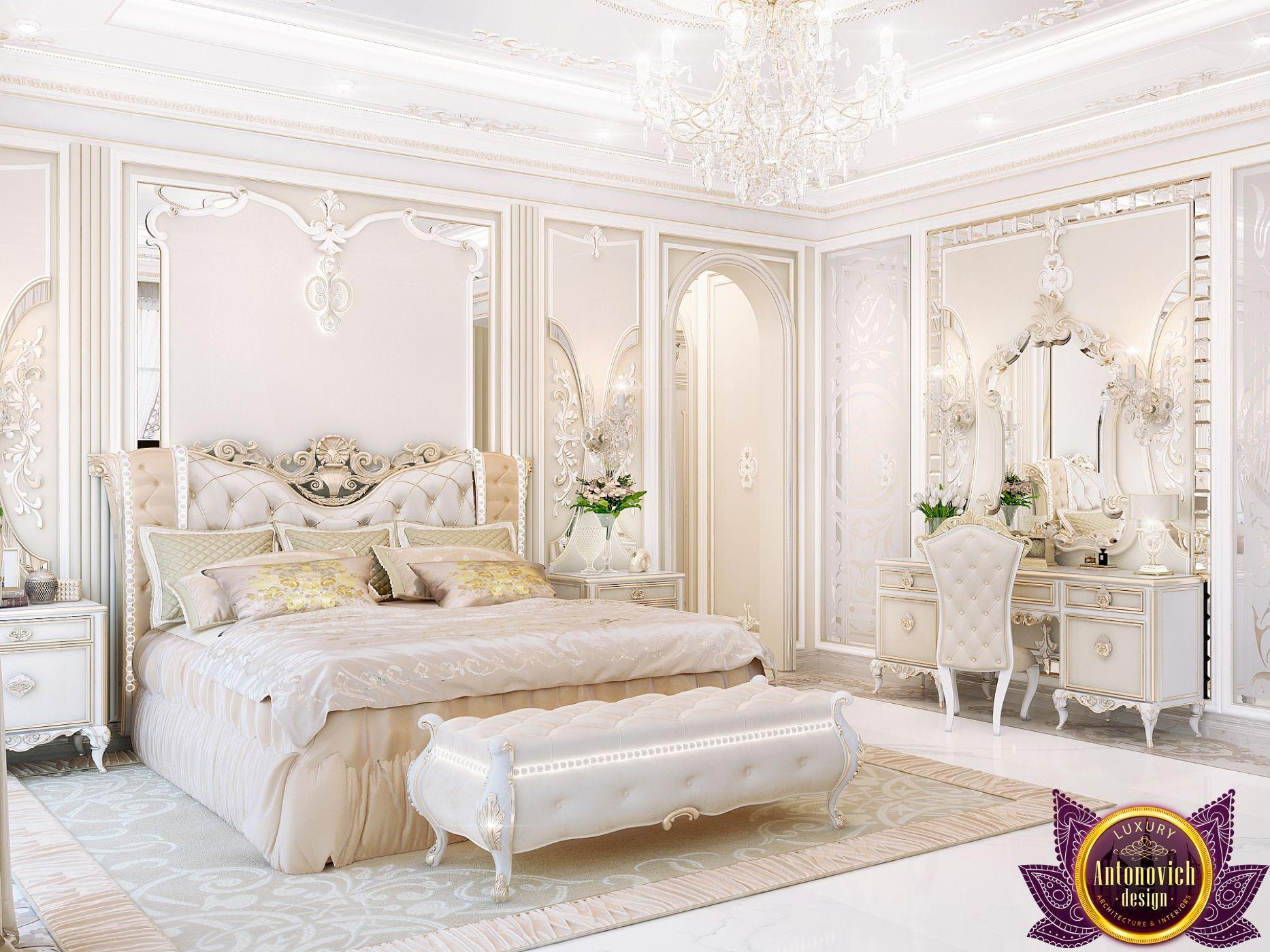 Master Bedroom design in classic style   Ideas for the House ...