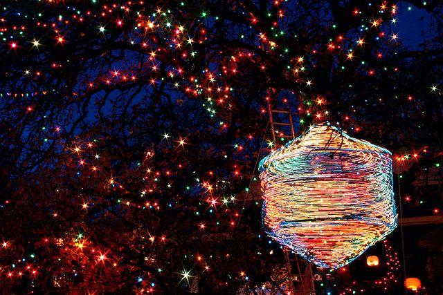 Austin Christmas Lights - Gigantic Spinning Top in Tree ...