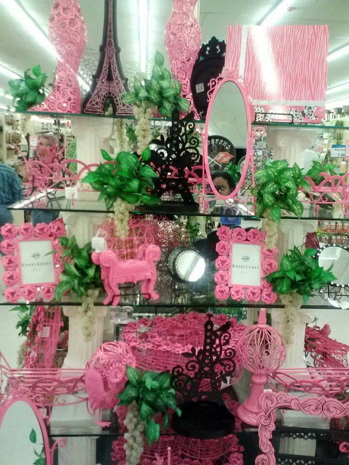 Pink and black decorations from Hobby Lobby   Paris room ...