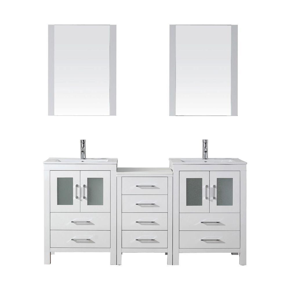 66 Inch Double Sink Bathroom Vanity