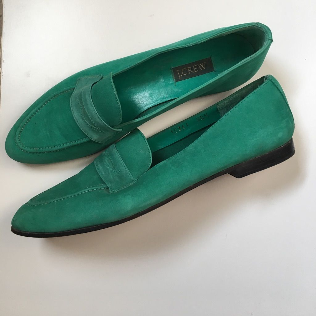 Emerald Green J.Crew Loafers