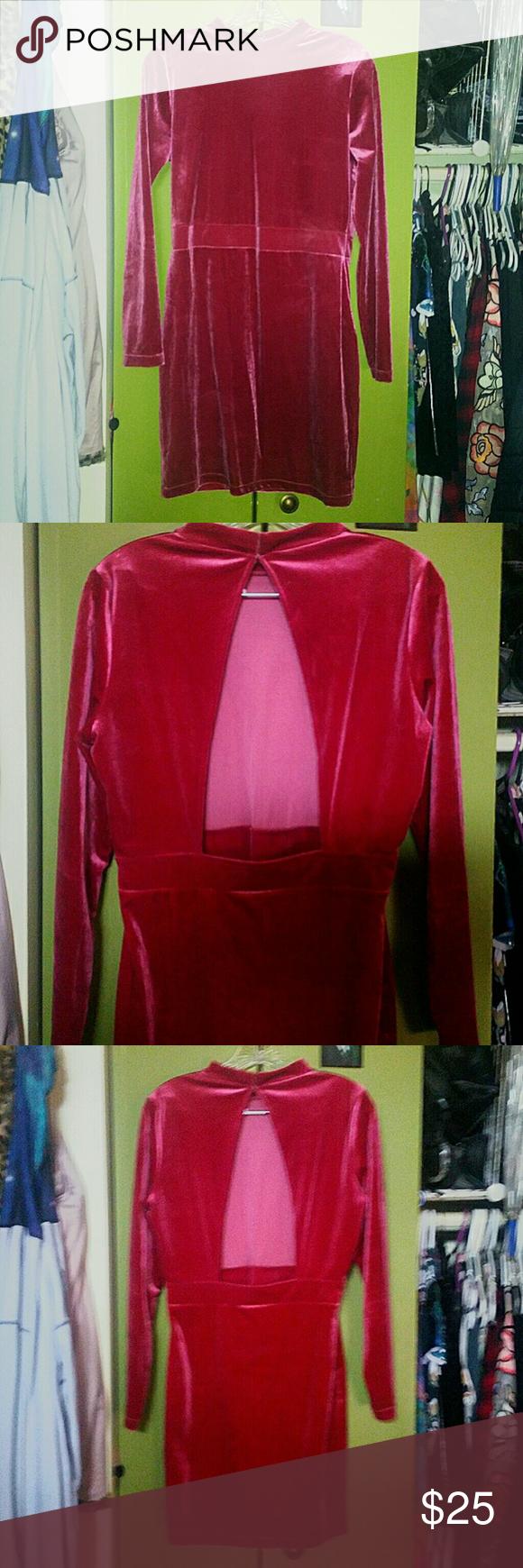 HuM dark dusty rose velvet bodycon dress cutouts  Pinterest