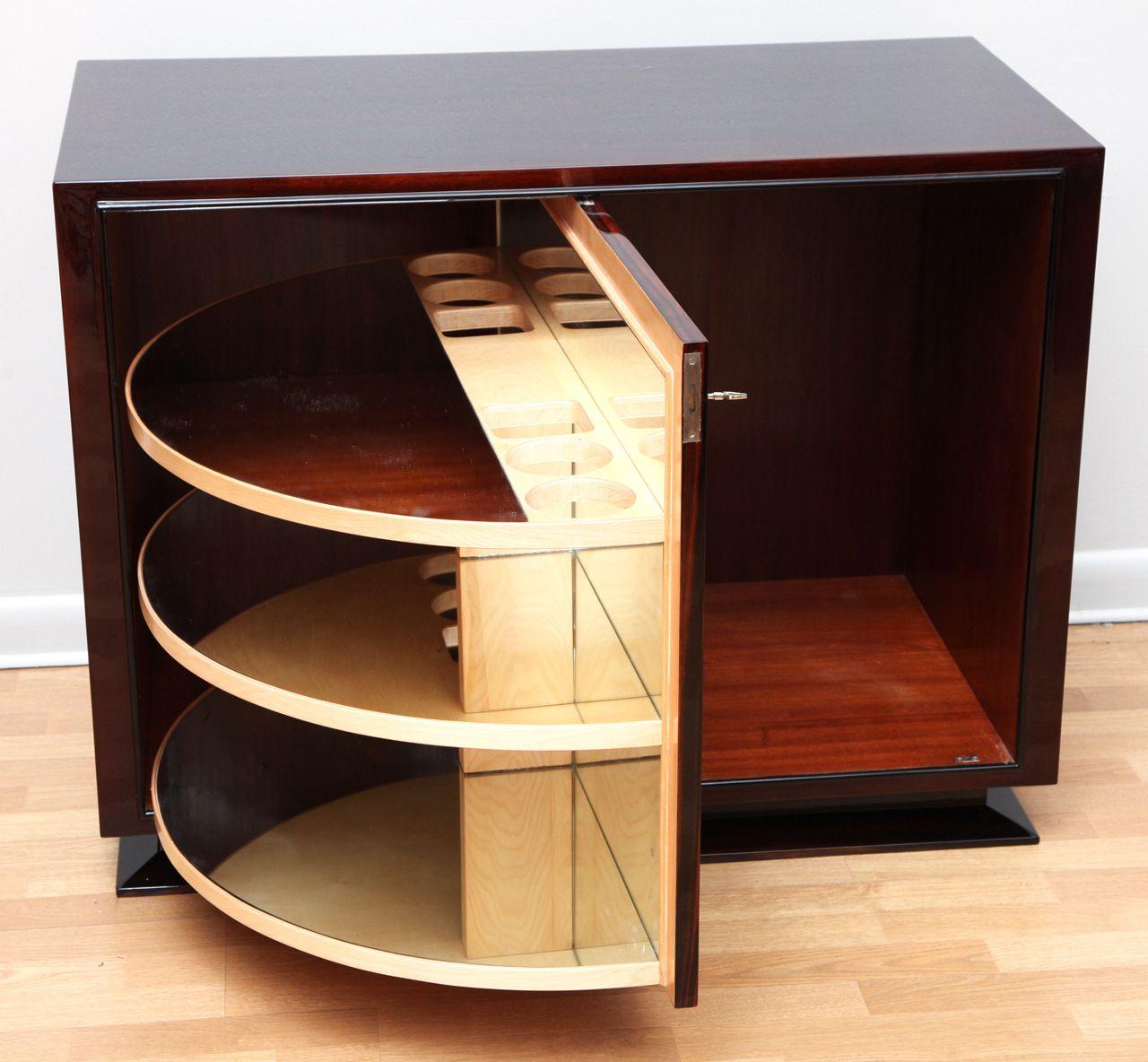 Cool Art Deco Kitchen Cabinets: Spectacular Art Deco Revolving Bar Cabinet
