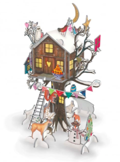 This Pop and Slot Advent treehouse is simply dreamy....... Make the treehouse and slot the ...