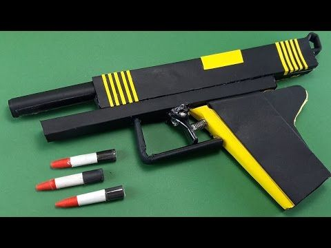 Diy How To Make A Paper Bee Gun That Shoots New Trigger By Dr