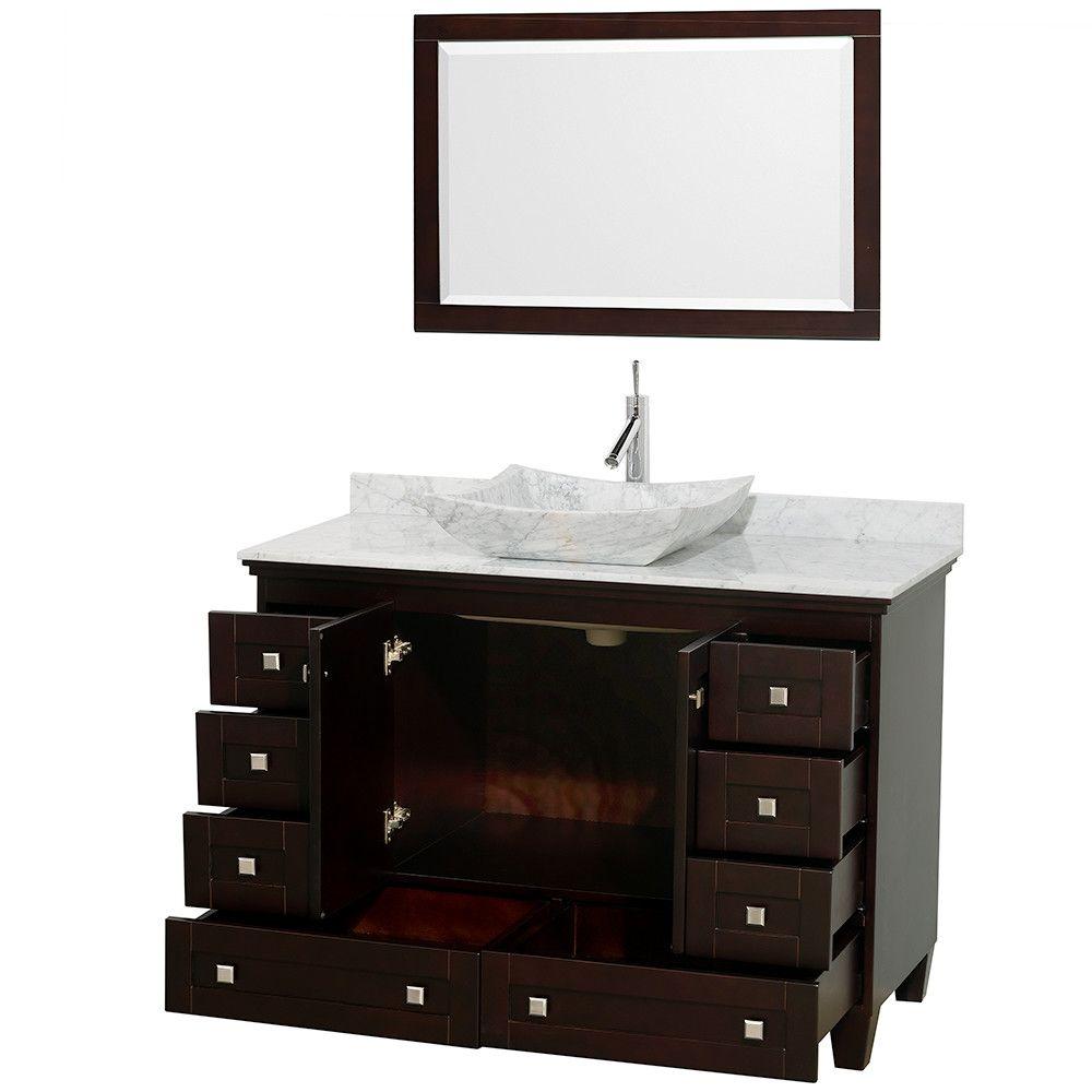"Wyndham Collection Acclaim 48"" Single Bathroom Vanity Set with Mirror   AllModern"