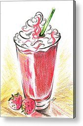 Strawberries And Cream Metal Print by Teresa White