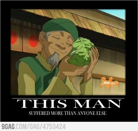 Poor Cabbage Man.