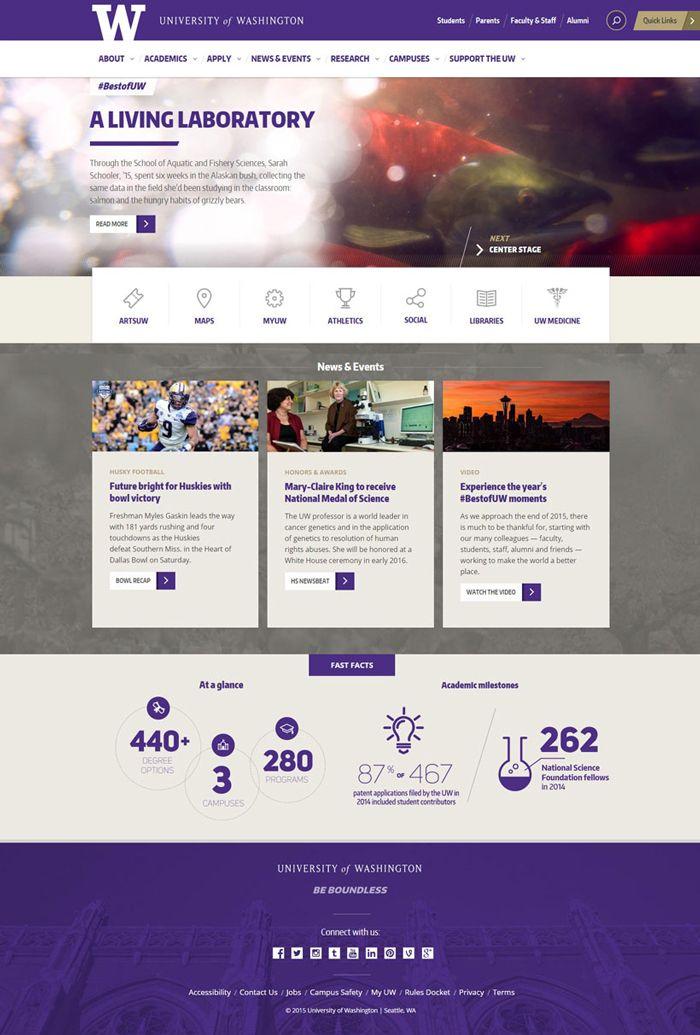 30 University And College Websites Inspiration Designyep College Website University Website School Website