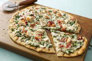 Grilled Spinach Alfredo Pizza recipe