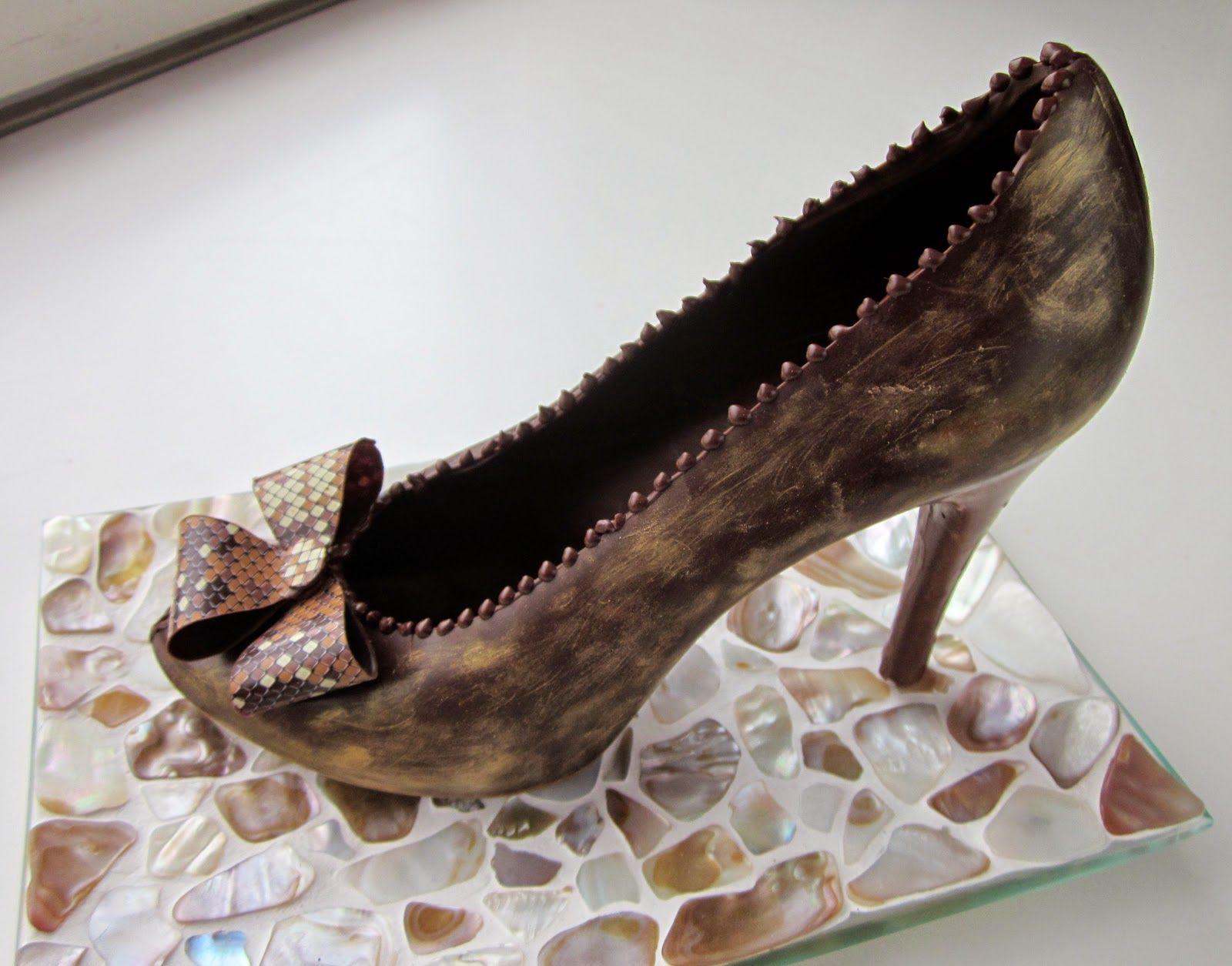 Chocolate high heels.
