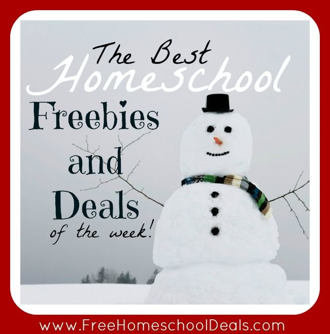 The Best Homeschool Freebies and Deals of the Week! 12/29/12
