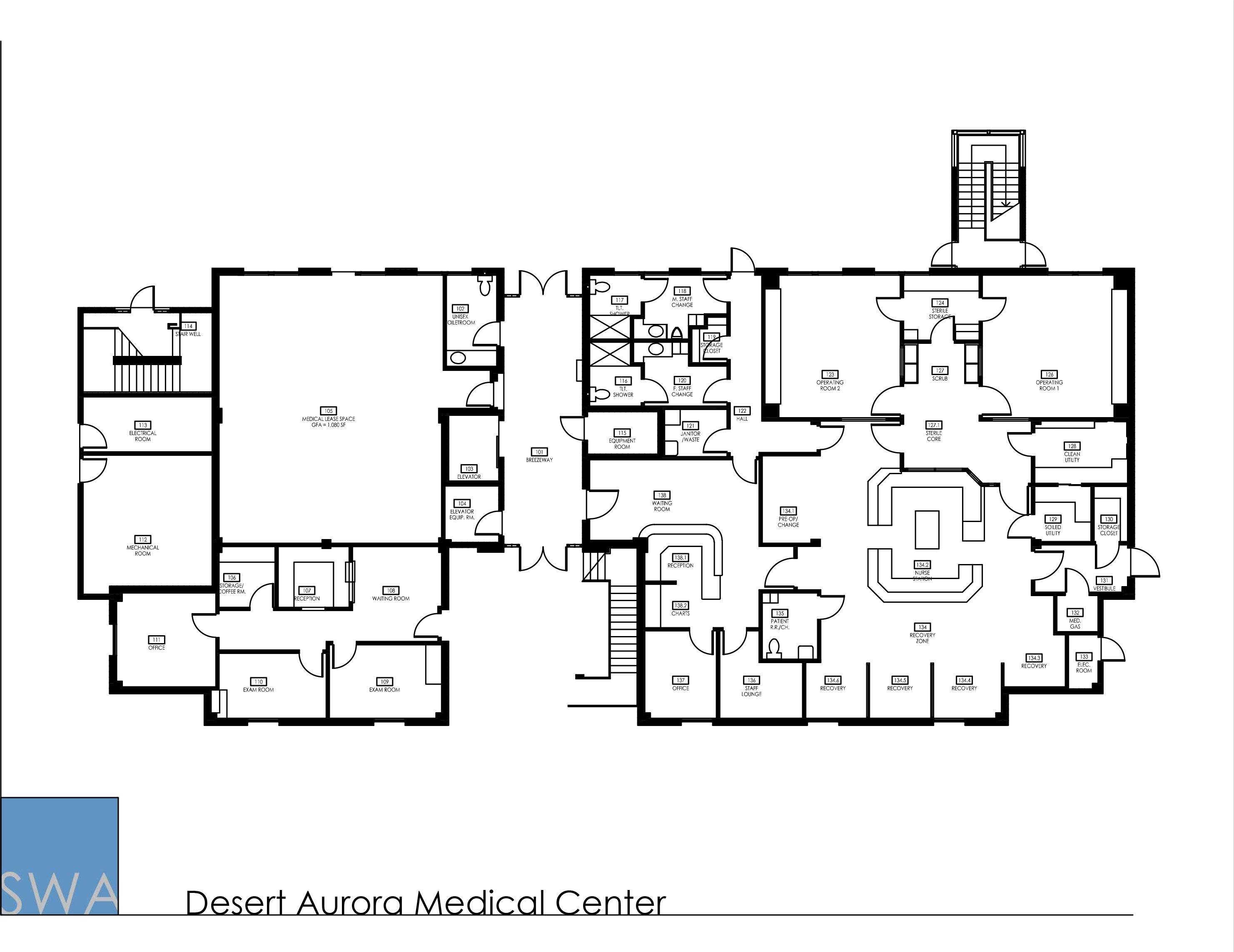 Desert Aurora Medical Center Medical Center Clinic Design Clinic Interior Design